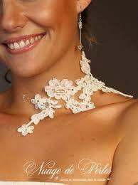 bijoux mariage bijou en dentelle pour le mariage féerie collier mariée