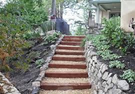 garten treppe 50 ideen für gartentreppe selber bauen leichter zugang und