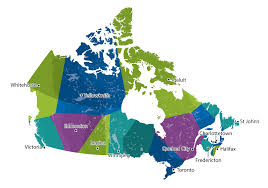 canadian map capitals voronoi map of canadian capitals overlaid on existing borders