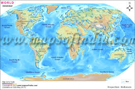 World Map Of Continents And Oceans To Label by World River Map Major Rivers Of The World