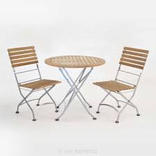 Round Teak Table And Chairs Cafe Round Folding Table And Side Chairs Dining Set Teak Warehouse
