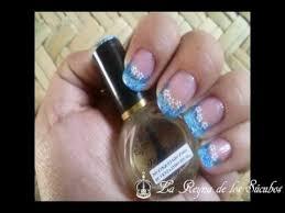 imagenes de uñas decoradas con konad azul pitufo diseño de uñas konad tutorial youtube