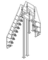 aluminum alternating tread stair on designer pages