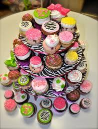 leah u0027s sweet treats funky zebra baby shower cupcakes