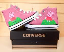kids peppa pig painted canvas shoes