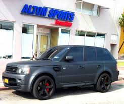 matte range rover matte gray range rover sport supercharged exotic cars on the