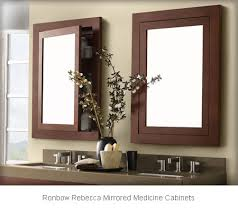 Bathroom Mirror With Storage Recessed Mirrored Bathroom Cabinets Recessed