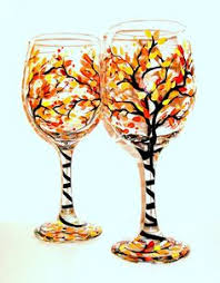 6 fall wine glasses for thanksgiving fall wine glasses