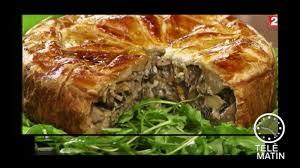 tele matin 2 fr cuisine gourmand tourte aux chignons 2 20 10 2017