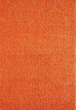 large modern thick 5cm high pile plain orange colour shaggy rugs