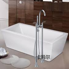 Bathtubs Faucets 2017 Modern Chrome Round Fixed Floor Stand Bathtubs Faucets Water