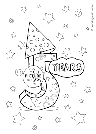 birthday coloring pages for kids birthday party coloring pages