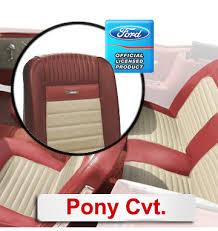 65 Mustang Interior Parts 1965 Mustang Deluxe Pony Interior Kit Convertible Mustang