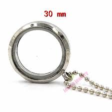 2017 free chain30 mm silver round magnetic glass floating charm