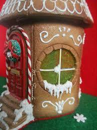diy polymer clay christmas gingerbread house lantern crafty amino
