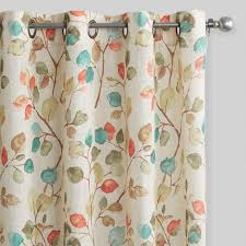 autumn leaves openweave grommet top curtains world market