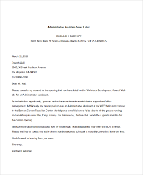 sample admin assistant cover letter 11640