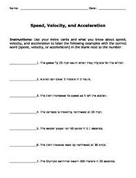 Speed Velocity And Acceleration Calculations Worksheet Answers 83 Best Motion Images On Teaching Science Science