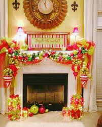 Christmas Decorations For Fireplace Mantel 1030 Best Christmas Mantels Images On Pinterest Christmas Ideas
