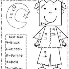 coloring pages math worksheet kids addition subtraction