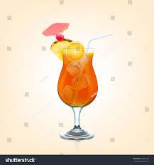 mai tai cocktail mai tai cocktail stock vector 559731238 shutterstock