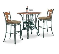 Bar Stool And Table Sets Amazon Com 3 Piece Bar Table Set With Wine Rack Base Bar Table
