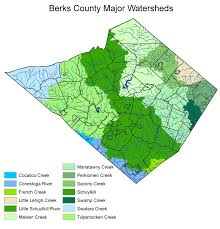 map of berks county pa watersheds
