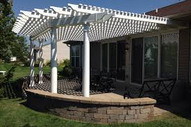 White Vinyl Pergola by Photo Galleries Pergolas Rock Solid Builders Inc
