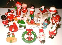vintage wooden christmas ornaments made in taiwan christmas