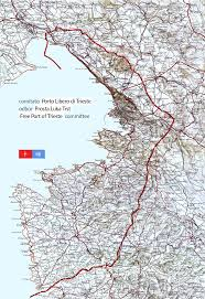 Trieste Italy Map by Triest Free Port Territory