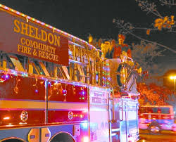 Fire Trucks Decorated For Christmas North Channel Star 2014 January 01