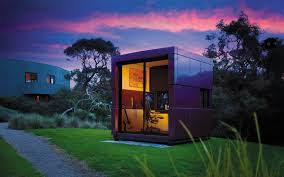 harwyn prefab pod home can be an office or man cave insidehook