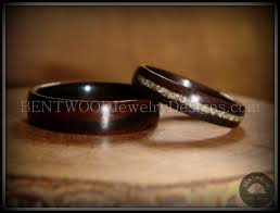 german wedding ring bentwood handcrafted wood wedding rings german glass inlay