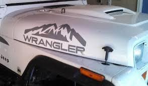 jeep cj hood 2 jeep wrangler rubicon mountains cj tj yk jk xj vinyl sticker 2