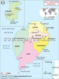 Map Of Africa With Capitals by Map Of Sao Tome And Principe Sao Tome And Principe Map