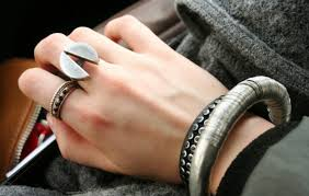 rock silver rings images Ring rock silver white jewels grey jewels black jewels brown jpg