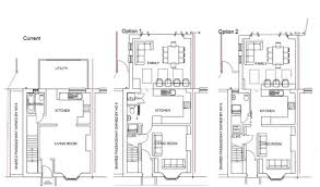ground floor extension plans small terraced house ground floor extension dilemma