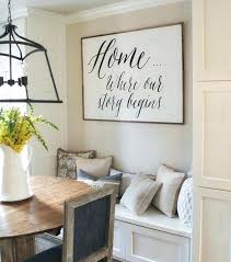 kitchen nook decorating ideas breakfast nook wall decor happy friends its a great day to be home