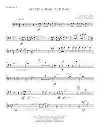 Flag Law You U0027re A Grand Old Flag Trombone 1 Sheet Music Direct