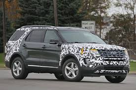bronco car 2016 2016 ford explorer spied partially camouflaged autoevolution