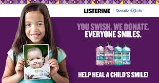 the listerine operation smile partnership cookies required