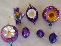 purple glass ornaments pictures photos and images for