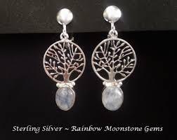 clip on earrings australia clip on earrings rainbow moonstone sterling silver celtic