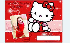kitty 7th birthday invitation