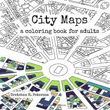 amazon com city maps a coloring book for 9780692670934