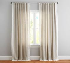 Pottery Barn Linen Curtains Awesome Linen Drapes For Emery Frame Border Drape Flax Ivory