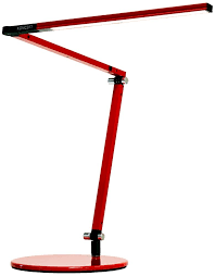 gen 3 z bar mini warm led red desk lamp with touch dimmer