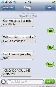 Dog Text Memes - dog conversation bat pole