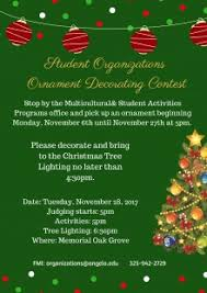 student organizations ornament decorating contest
