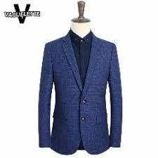 lade luxo homens blazer de tweed de l磽 de luxo slim fit neg祿cios desgaste